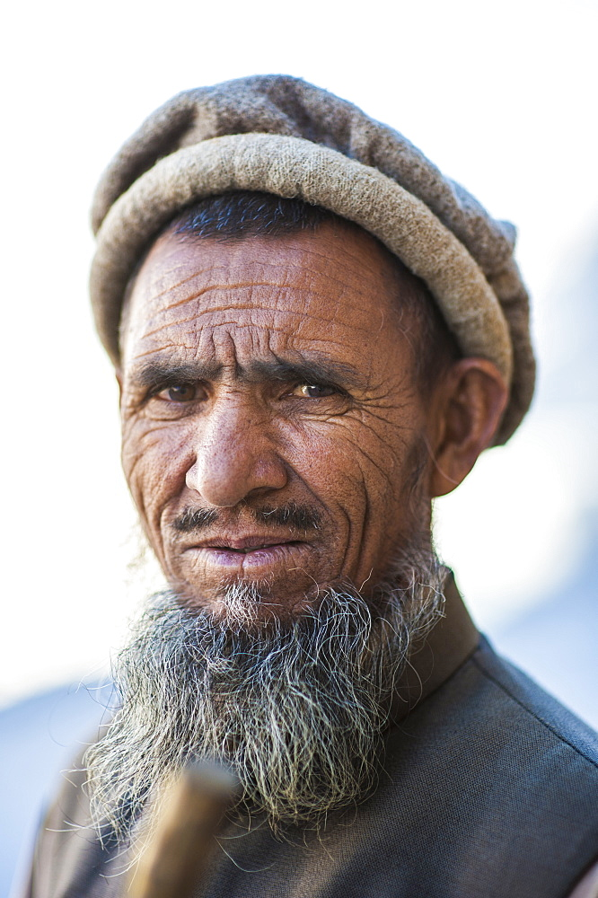 A man photographed along the Karakoram highway, Karakoram, Pakistan, Asia