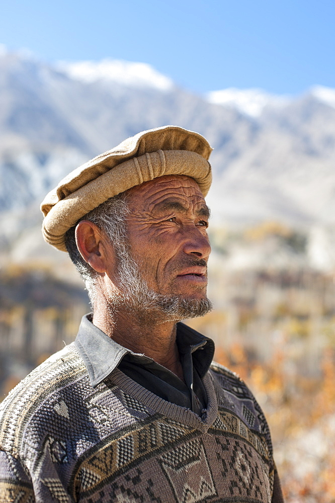 A man from the village of Merchulu in the Hushe Valley, Gilgit-Baltistan, northern Pakistan, Asia