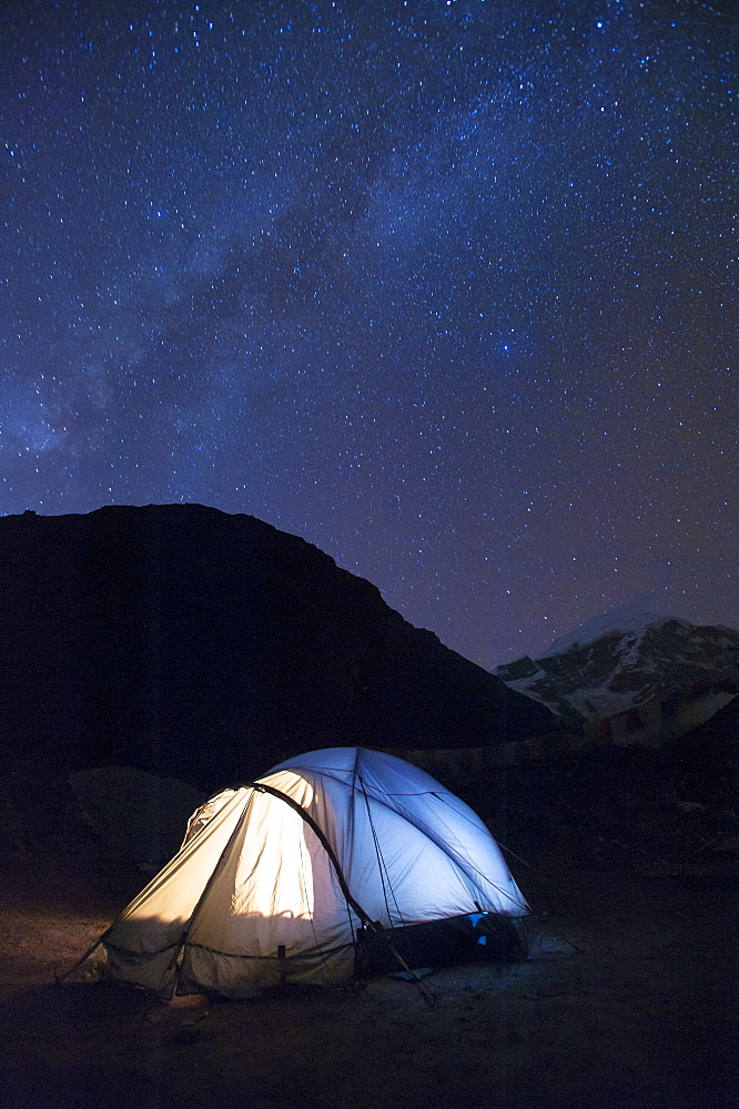 Camping at Jangothang along the Laya-Gasa trek in Bhutan, Asia - 1225-1129