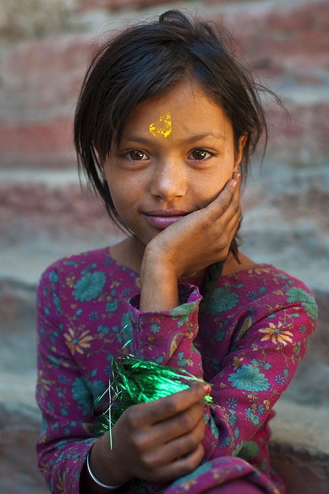 A little girl from the remote Dolpa region, Nepal, Asia
