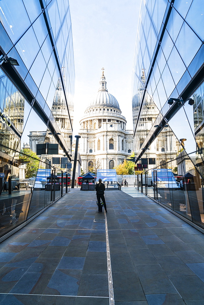 St. Paul's Cathedral from One New Change, City of London, London, England