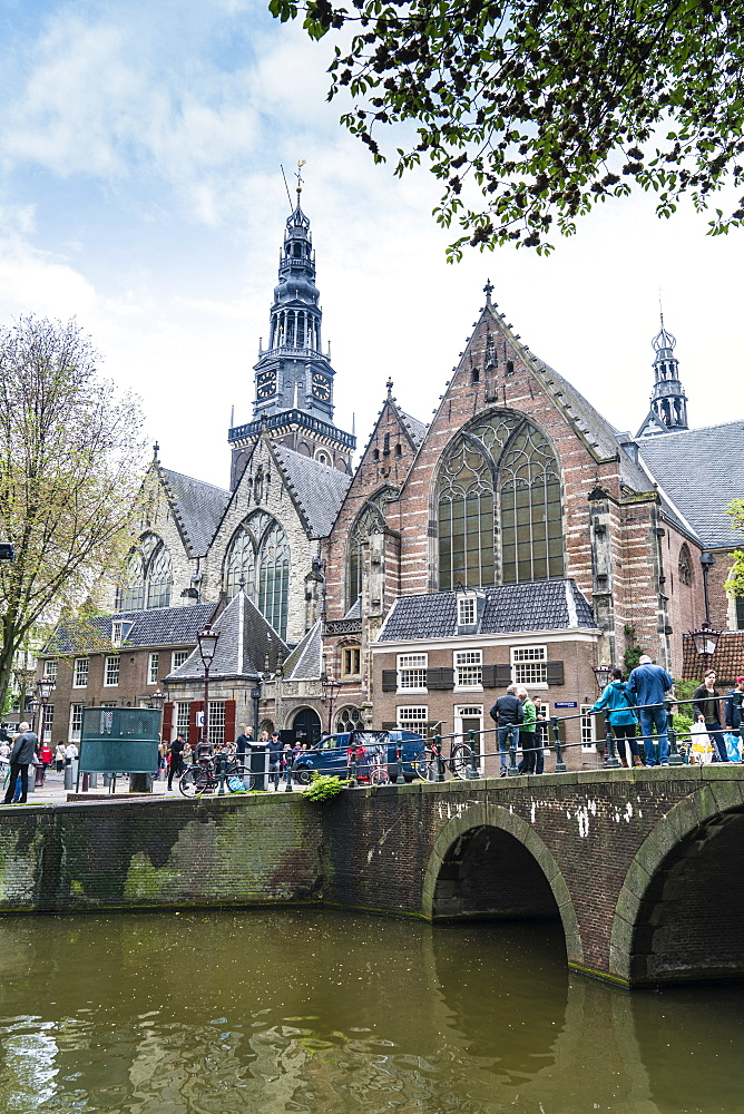 Oude Kerk, 13th century church and the oldest in Amsterdam, Netherlands, Europe - 1226-452
