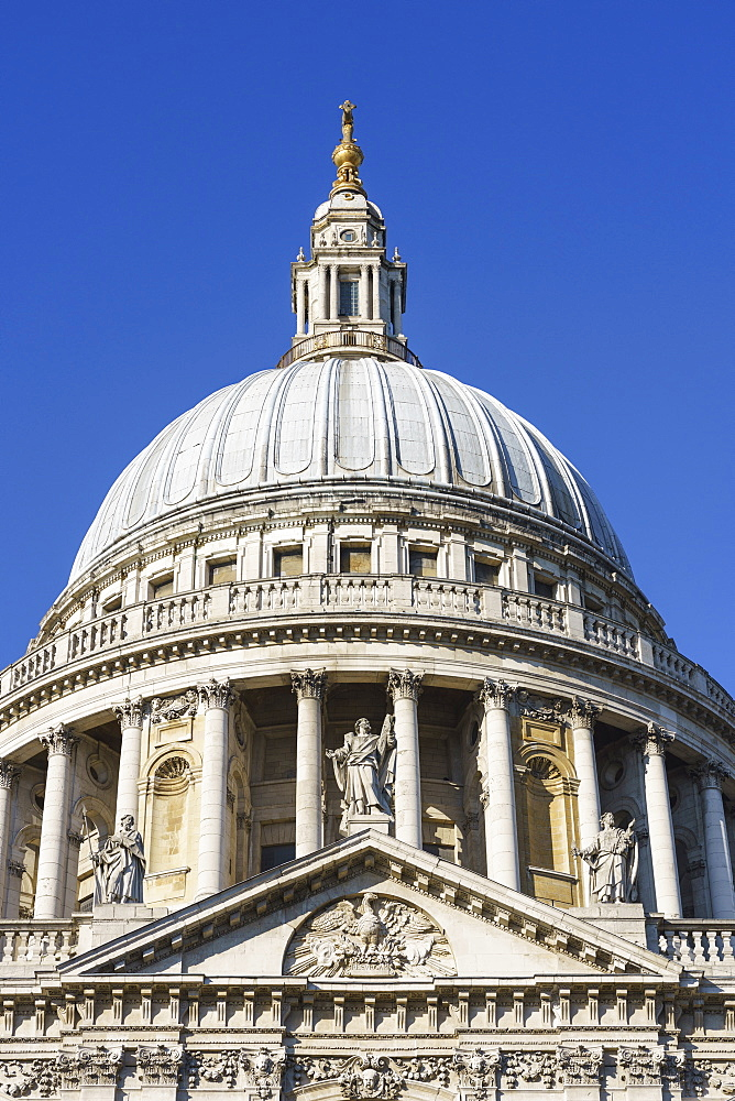 The dome of St. Paul's Cathedral, London, England