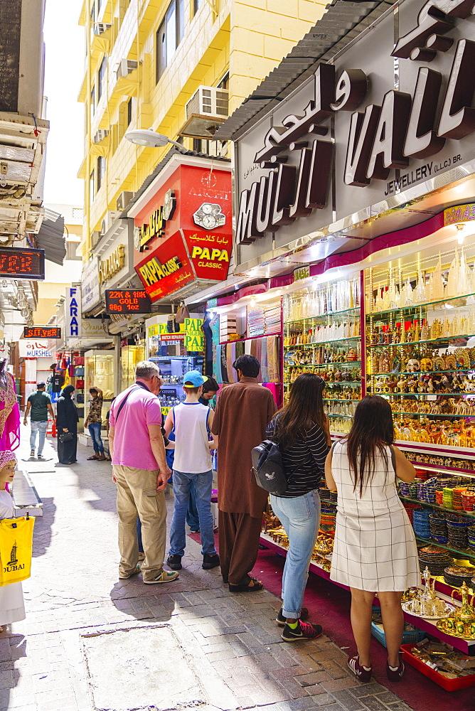 The Gold Souk, Al Ras, Deira, Dubai, United Arab Emirates, Middle East