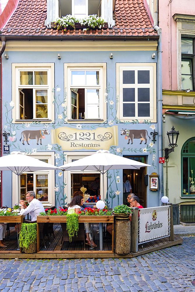 Restaurant 1221, Jauniela Street, Old Town, Riga, Latvia, Europe