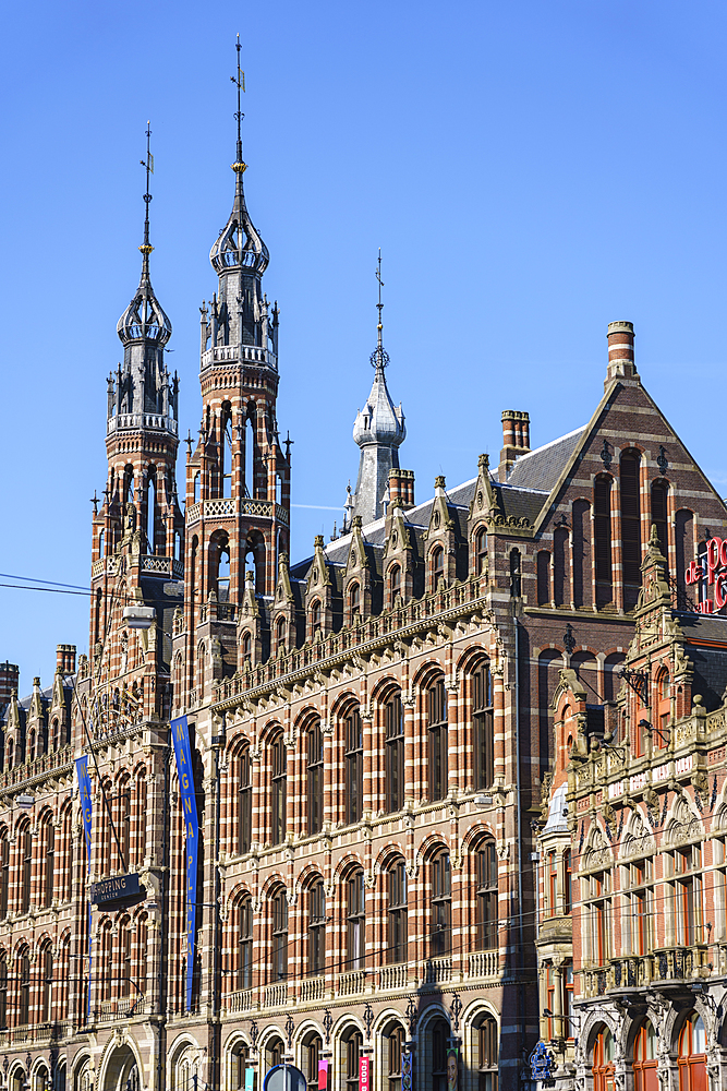 Magna Plaza shopping centre housed in a former 19th century post office building, Amsterdam, North Holland, The Netherlands, Europe