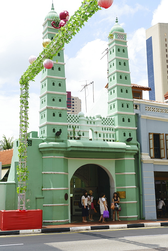 Masjid Jamae (Chulia) Mosque in South Bridge Road, Chinatown, Singapore, Southeast Asia, Asia