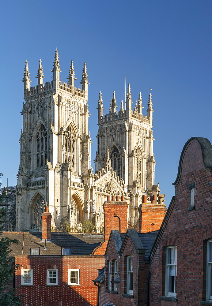 York Minster west bell towers, York, North Yorkshire, England, United Kingdom, Europe - 1228-106