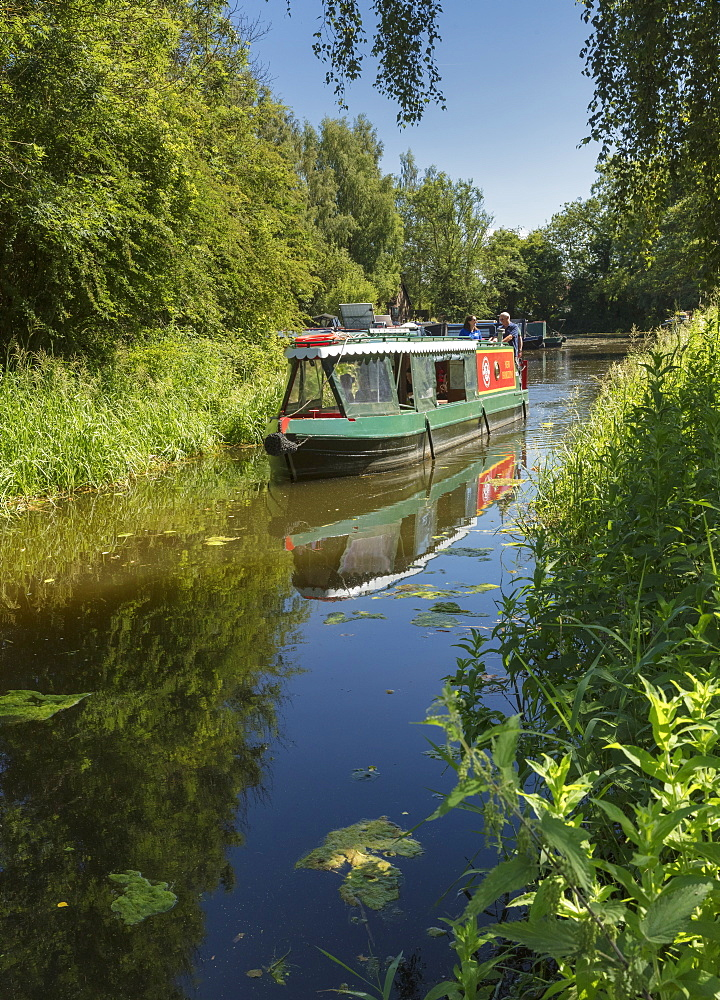 Boat on Pocklington Canal in the East Riding of Yorkshire, England, United Kingdom, Europe - 1228-148