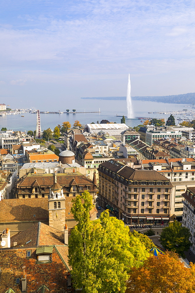 Town view from Saint Peter's Cathedral, Geneva, Switzerland, Europe. - 1237-157