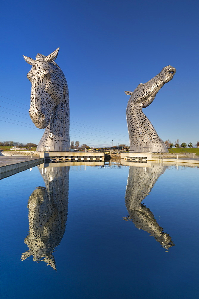The Kelpies, The Helix Park, Falkirk, Scotland, United Kingdom, Europe - 1237-176