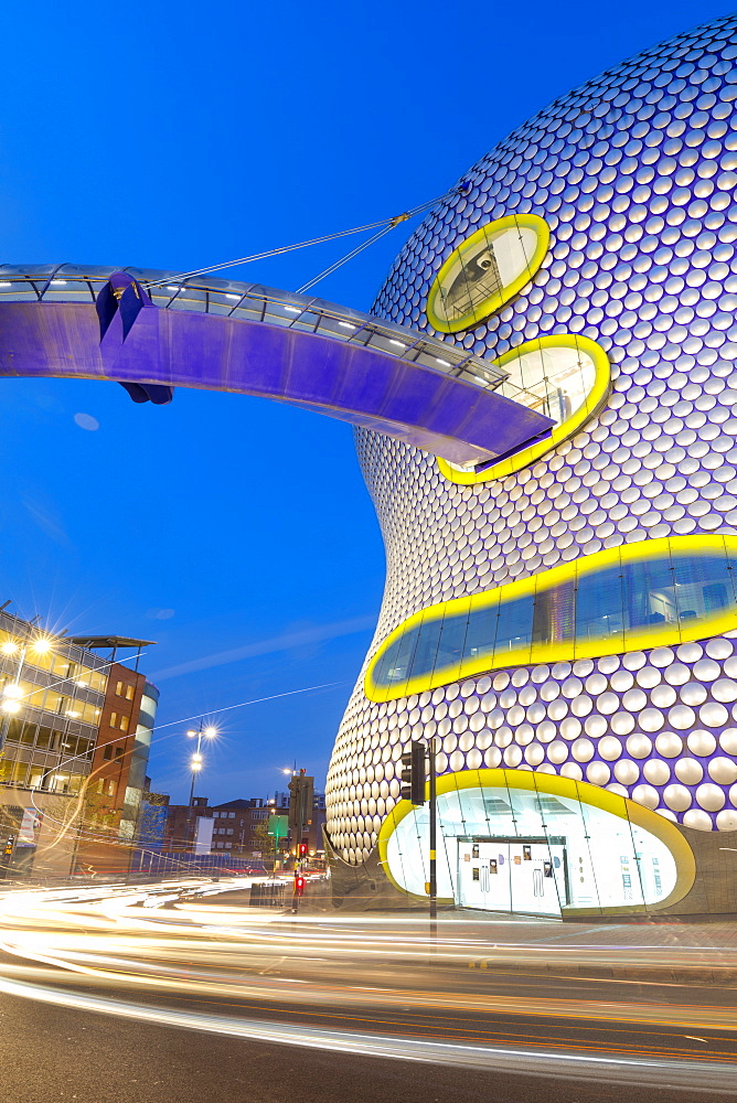 Selfridges Building at dusk, Birmingham, England, United Kingdom, Europe - 1237-192