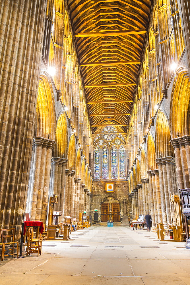 Interior view of Glasgow Cathedral, Glasgow, Scotland, United Kingdom, Europe