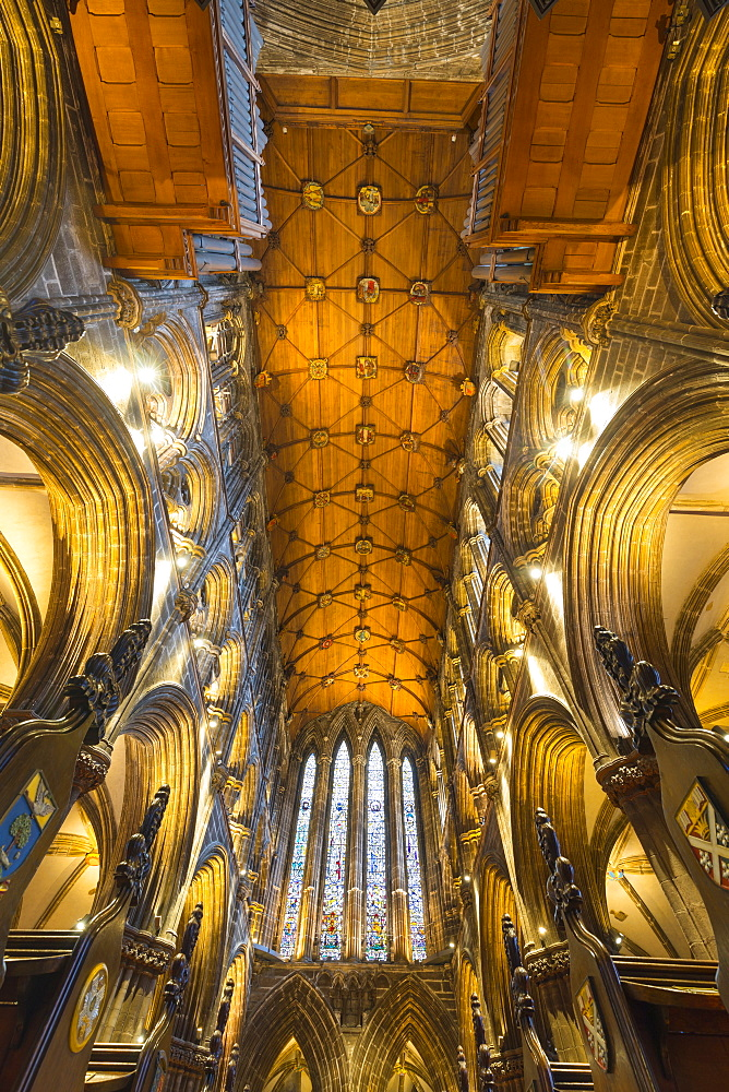 Interior view of Glasgow Cathedral, Scotland, United Kingdom, Europe.