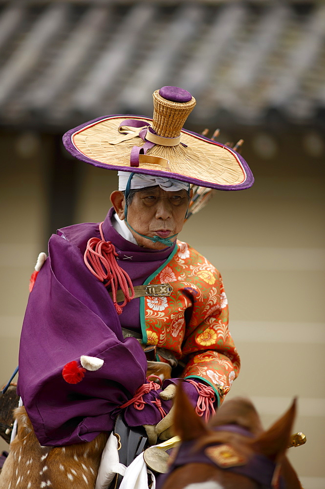 Mounted archer during the Jidai Festival, Kyoto, Japan, Asia