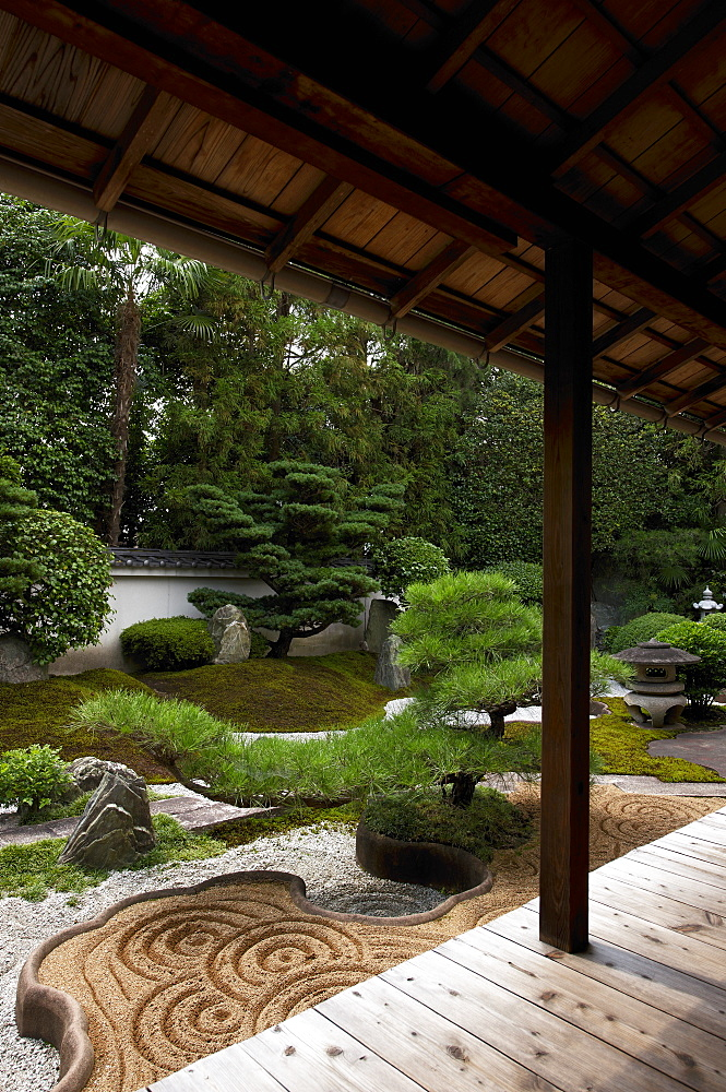 Rock garden created by famous designer Shigemori Mirei, Reiun-in temple, Kyoto, Japan, Asia - 1238-140
