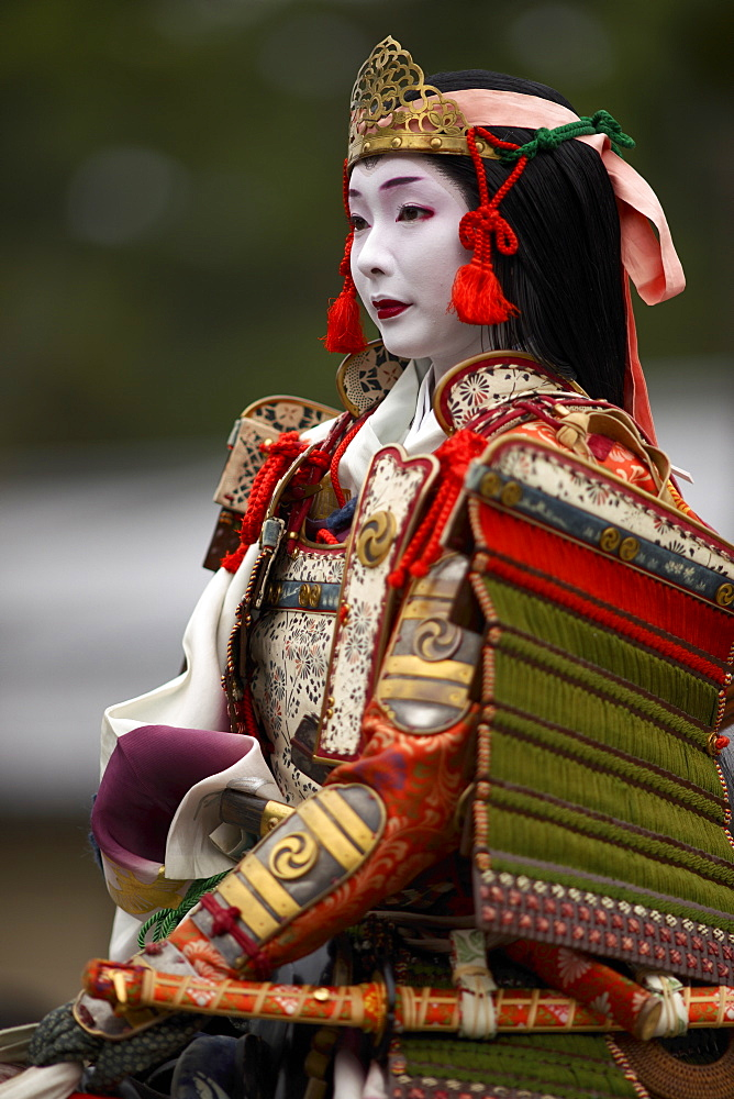Female warrior during the Jidai Festival, Kyoto, Japan, Asia - 1238-15