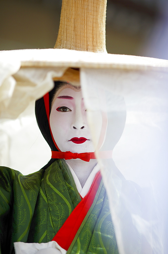 Twelfth century character Tokiwa Gozen, Jidai festival, Kyoto, Japan, Asia - 1238-150