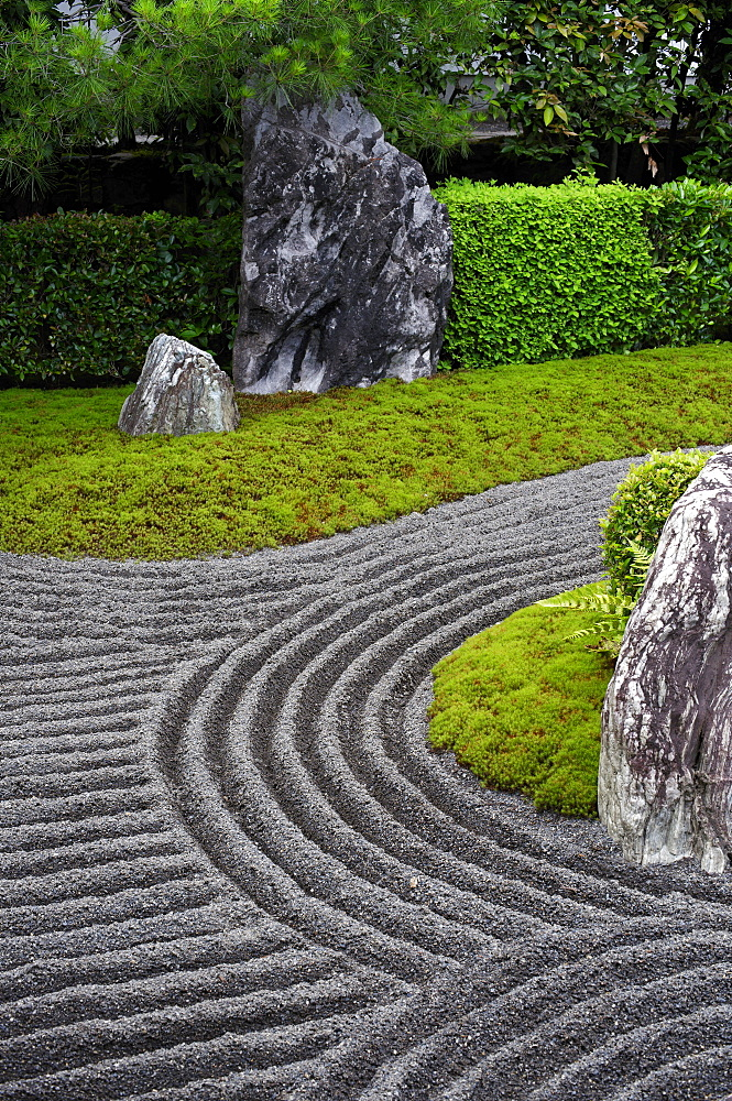 Taizo-in temple rock garden, Kyoto, Japan, Asia