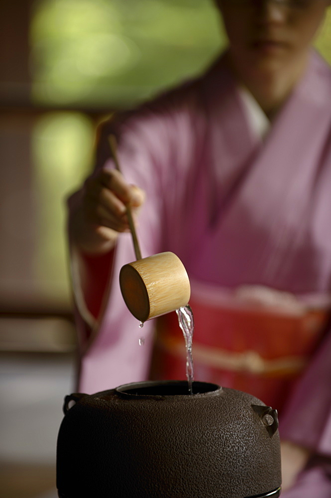 Tea ceremony in Shodensanso, Kyoto, Japan, Asia - 1238-70