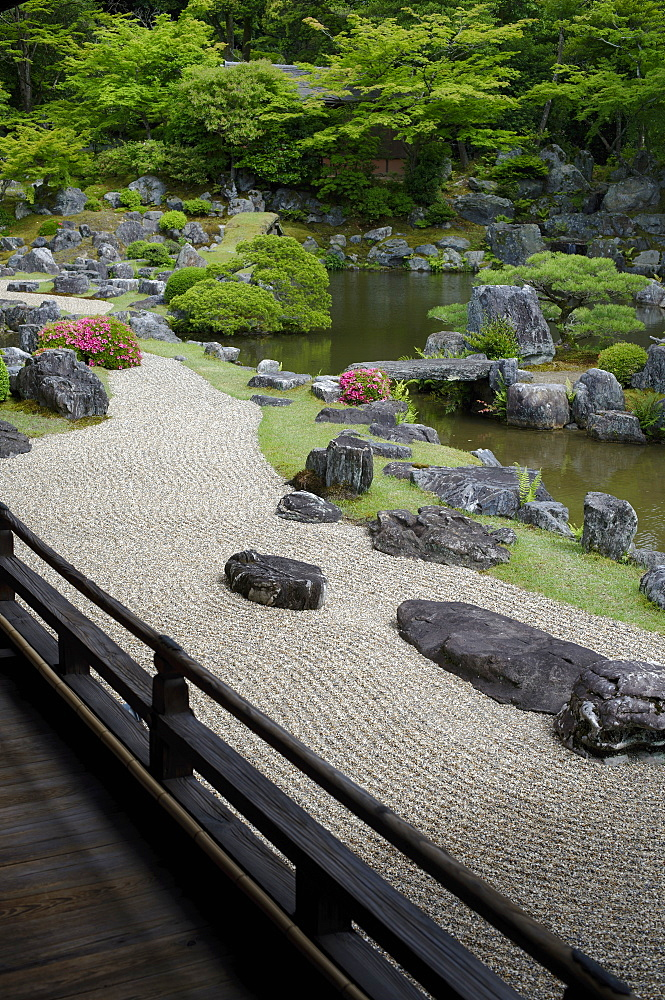 The rock garden of Sanpo-in temple, Kyoto, Japan, Asia - 1238-94