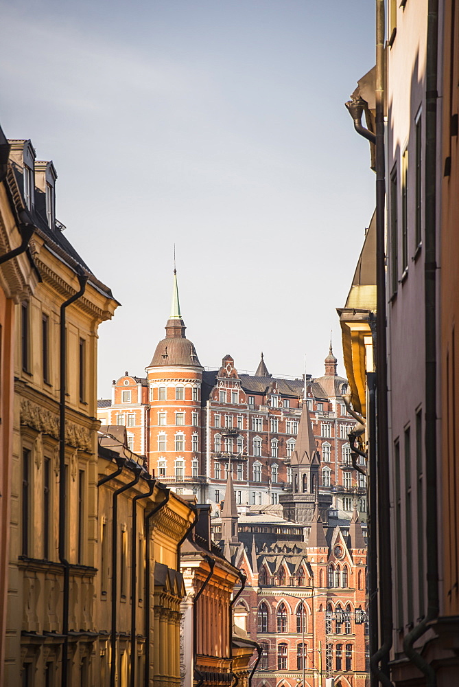View of Mariaberget from Gamla Stan, Stockholm, Sweden, Scandinavia, Europe - 1241-13