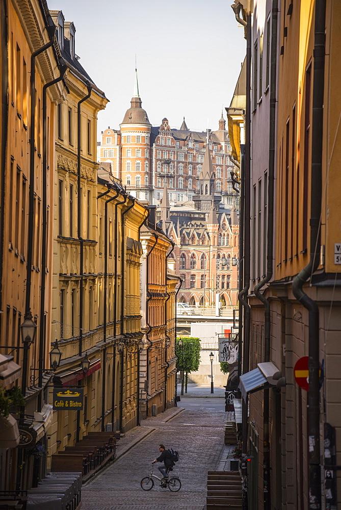 Mariaberget and Gamla Stan, Stockholm, Sweden, Scandinavia, Europe - 1241-36