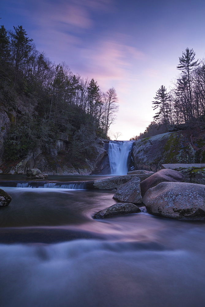 Elk River Falls at sunset, Elk River, Blue Ridge Mountains, North Carolina, United States of America, North America - 1241-49