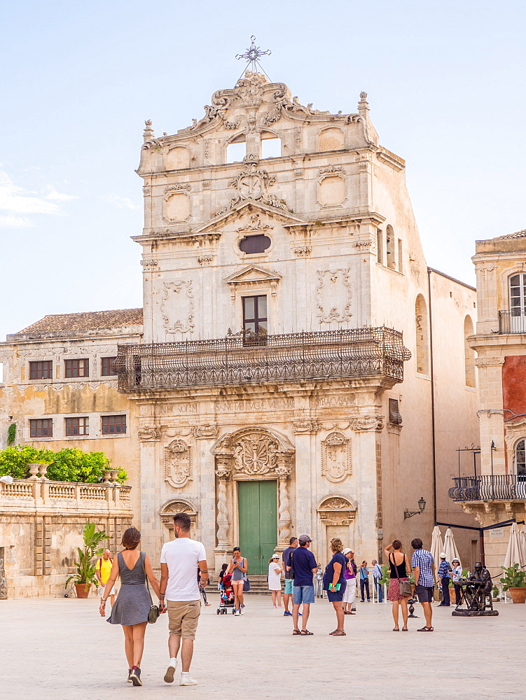 Church of Santa Lucia, Ortygia, UNESCO World Heritage Site, Syracuse (Siracusa), Sicily, Italy, Europe