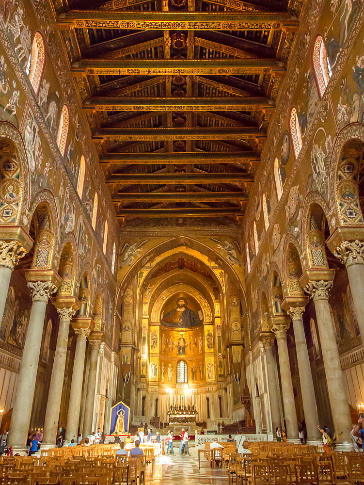 Monreale Cathedral, Palermo, Sicily, Italy, Europe - 1242-131
