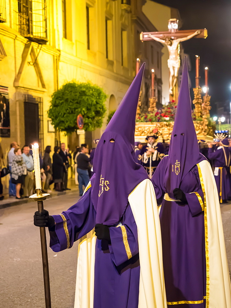 Antequera is known for traditional Semana Santa, or Holy Week, processions leading up to Easter. Antequera, Andalucia, Europe.