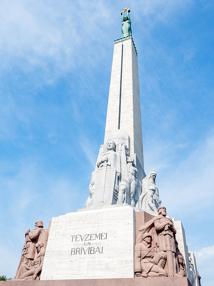 The Freedom Monument honors people killed during the Latvian War of Independence, Riga, Latvia, Baltics, Europe - 1242-251