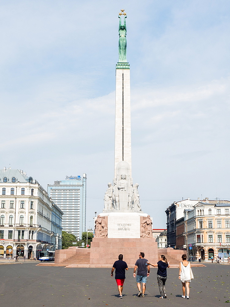 The Freedom Monument honors people killed during the Latvian War of Independence, Riga, Latvia, Baltics, Europe - 1242-252
