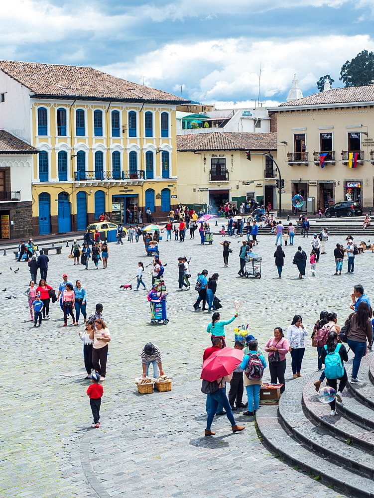 Plaza San Francisco, Quito, Ecuador, South America