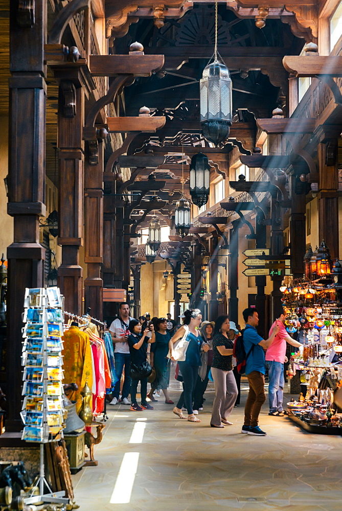 Traditional Arabic Souk in Jumeirah Mina A'Salam, Dubai, United Arab Emirates, Middle East