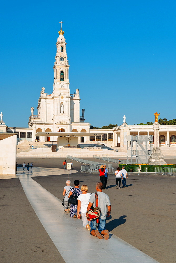Religious pilgrims at the Sanctuary of Fatima (Basilica of Our Lady of Fatima), Portugal, Europe - 1243-334