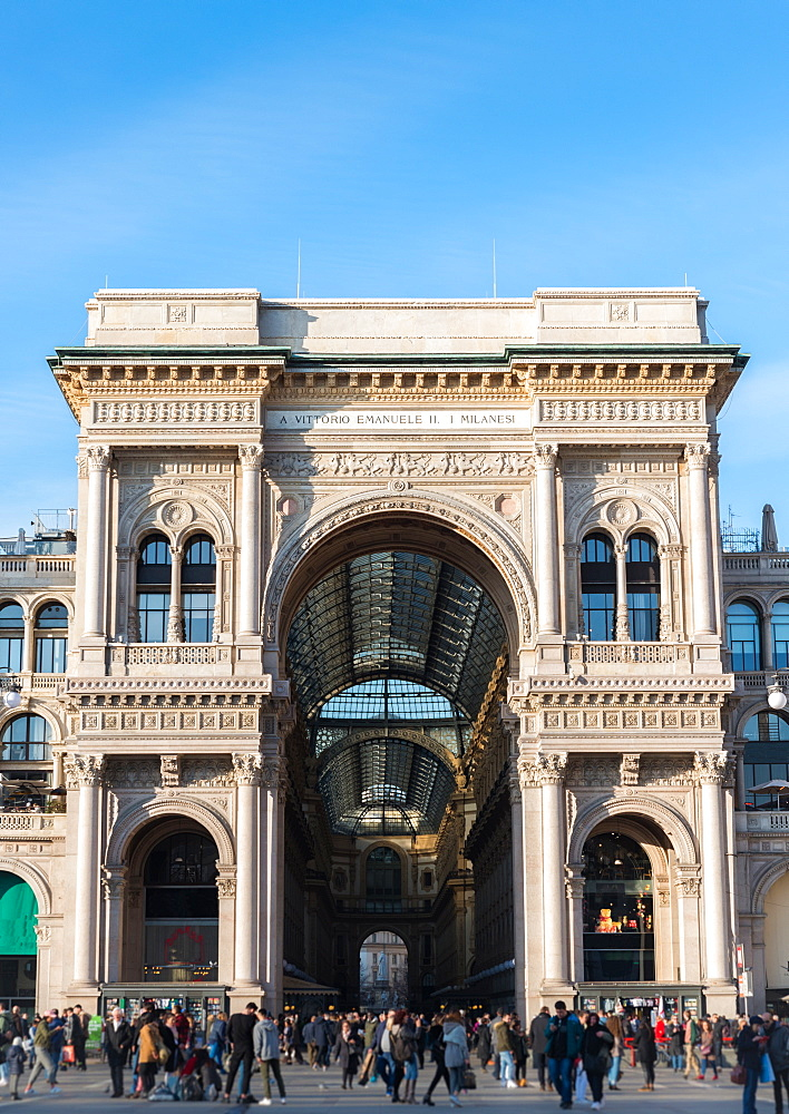 Galleria Vittorio Emanuelle II in Milan, Lombardy, Italy, Europe