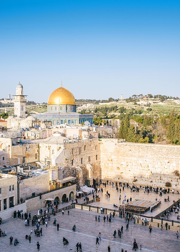 Temple Mount, Dome of the Rock, Redeemer Church and Old Town in Jerusalem, Israel - 1243-68