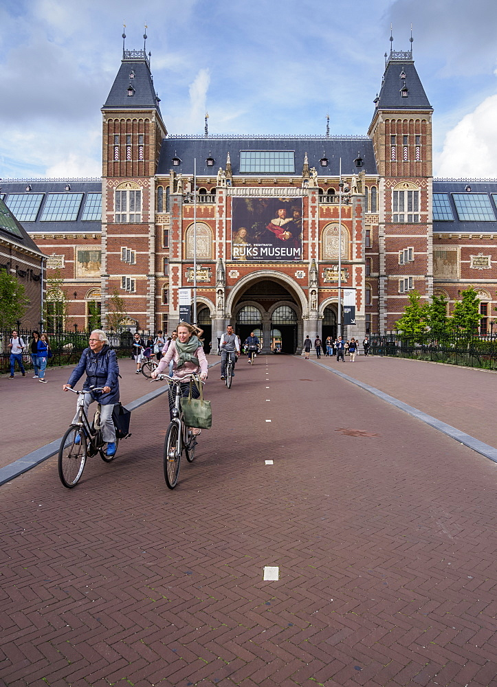 Rijksmuseum at the Museumplein, Amsterdam, North Holland, The Netherlands, Europe