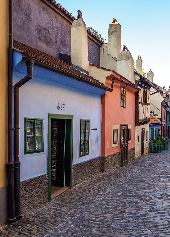 Golden Lane at Prague Castle, Prague, Bohemia Region, Czech Republic