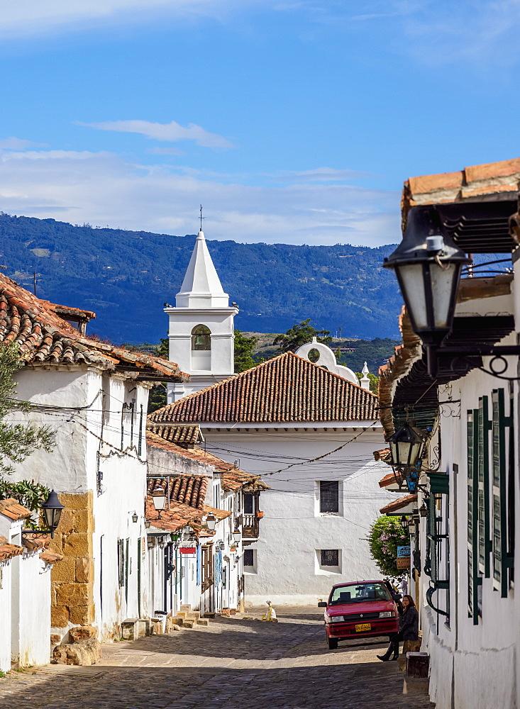 View towards El Carmen Church, Villa de Leyva, Boyaca Department, Colombia - 1245-1418
