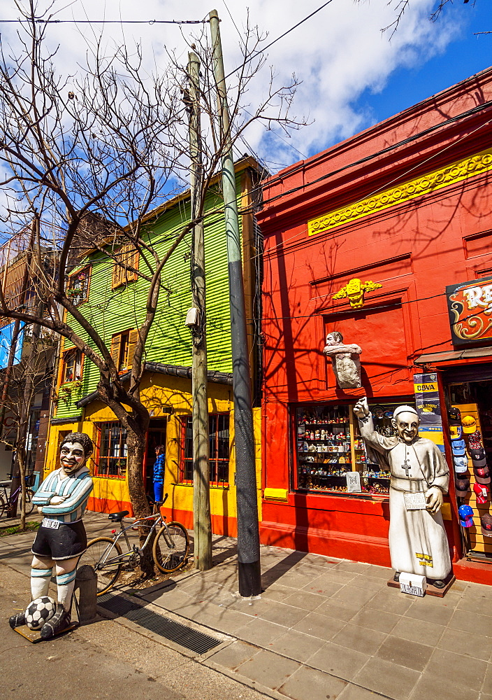 View of the colourful La Boca Neighbourhood, City of Buenos Aires, Buenos Aires Province, Argentina, South America
