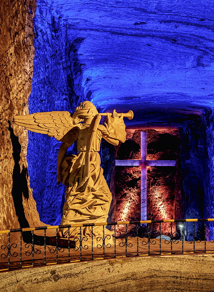 Salt Cathedral, interior, Zipaquira, Cundinamarca Department, Colombia, South America