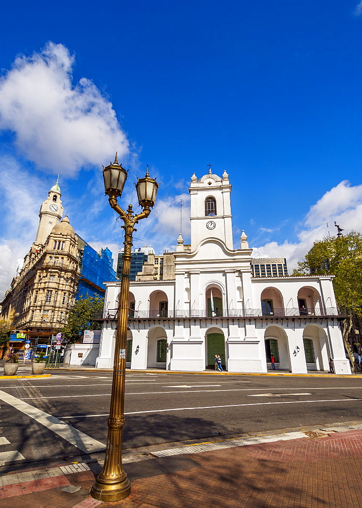 View of the Buenos Aires Cabildo on Plaza de Mayo, Monserrat, City of Buenos Aires, Buenos Aires Province, Argentina, South America
