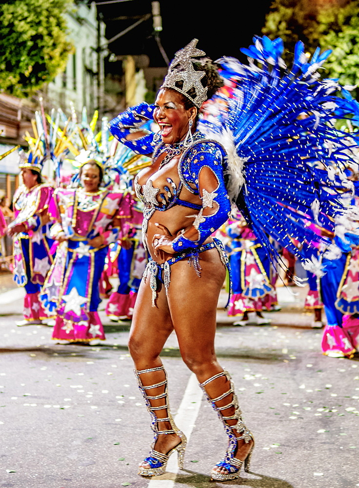 Samba Dancer at the Carnival Parade in Niteroi, State of Rio de Janeiro, Brazil, South America