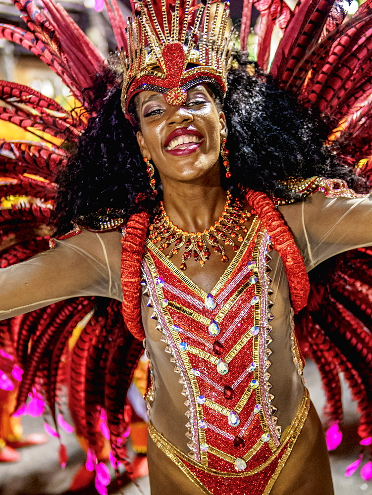 Samba Dancer at the Carnival Parade in Rio de Janeiro, Brazil, South America