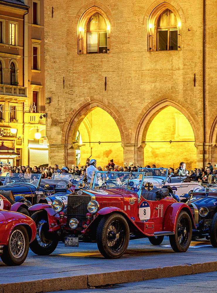 1000 Miglia at Piazza Maggiore, Bologna, Emilia-Romagna, Italy, Europe