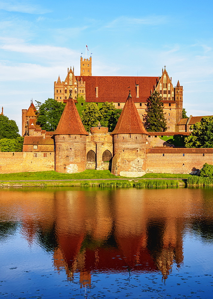 Castle of the Teutonic Order in Malbork, UNESCO World Heritage Site, Pomeranian Voivodeship, Poland, Europe