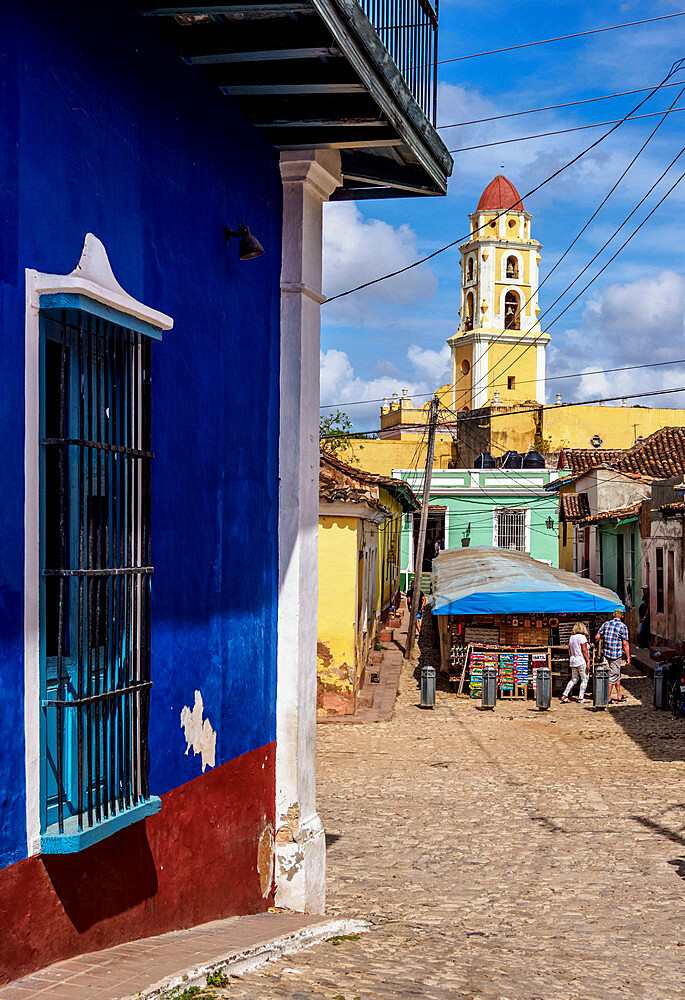 View towards San Francisco Convent Church Tower, Trinidad, UNESCO World Heritage Site, Sancti Spiritus Province, Cuba, West Indies, Caribbean, Central America