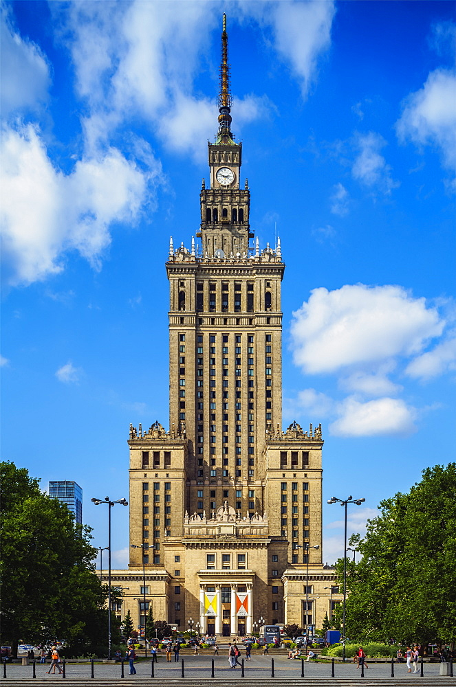 Palace of Culture and Science, City Centre, Warsaw, Masovian Voivodeship, Poland, Europe